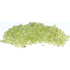1 lb Peridot tumbled chips 2-4mm