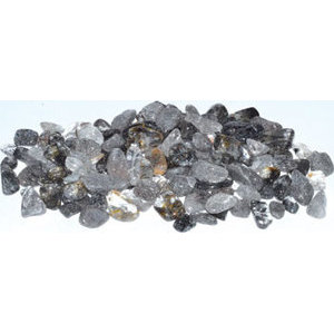 1 lb Quartz, Black Rutilated tumbled chips 5-8mm