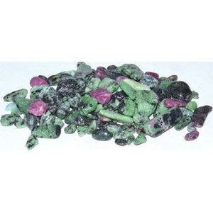 1 lb Zosite, Ruby tumbled chips 5-7mm