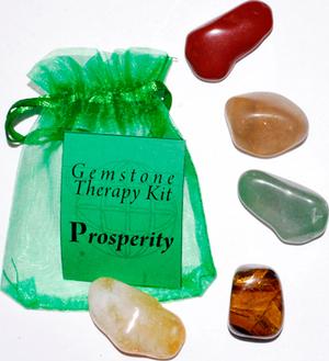 Prosperity gemstone therapy