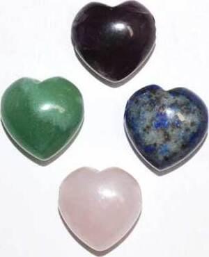15mm Heart Beads various stones (2/pk)