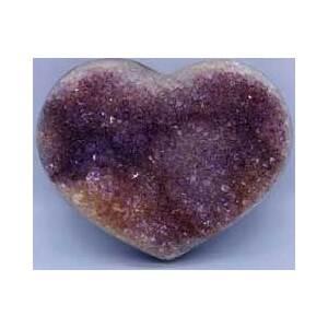 X-large Heart Puffed Druze Agate