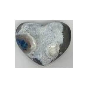medium Heart Puffed Druze Agate
