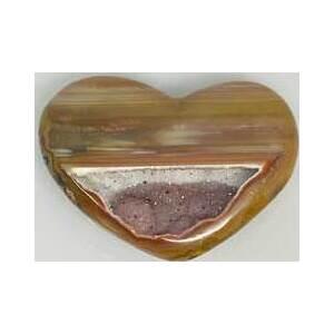 small Heart Puffed Druse Agate