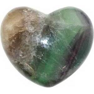 """1 3/4"""" Fluorite Heart"""