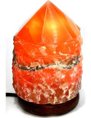 Dark Honey Calcite lamp