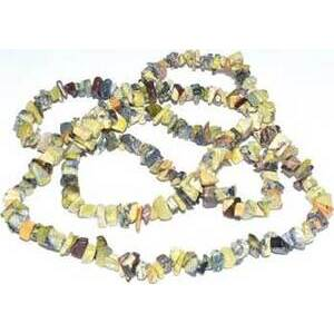 """32"""" Turquoise, Yellow chip necklace"""
