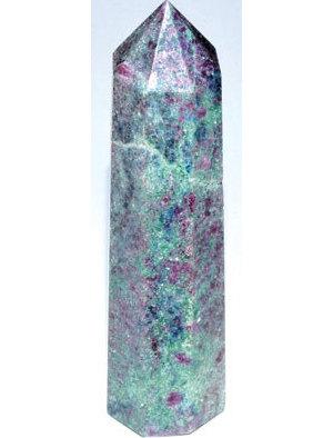 """2 1/2""""+ Ruby Fuchsite obelisk"""