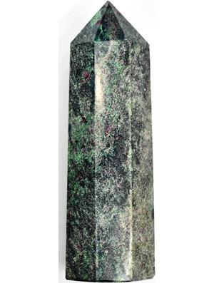 """6""""+ Ruby Zoisite W Mica obelisk"""