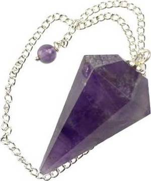 6-Sided Amethyst Pendulum