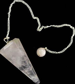 6-Sided Rose Quartz Pendulum