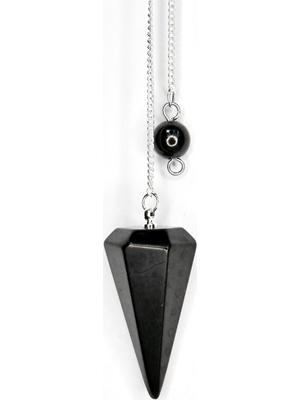 6-sided Shungite pendulum