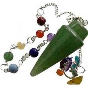 Green Avenurine 7 Chakra Pendulum