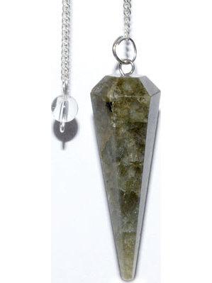 6-sided Labradorite pendulum