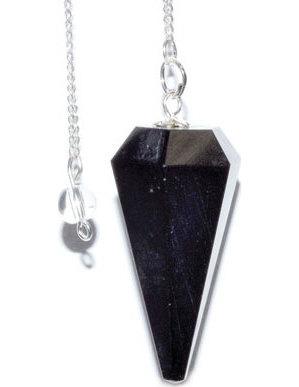 6-sided Black Tourmaline pendulum