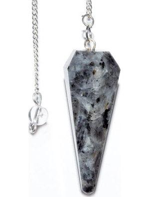 6-sided Indigo Gabro pendulum