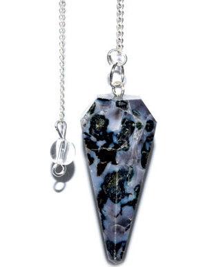 6-sided Blue Pearl pendulum