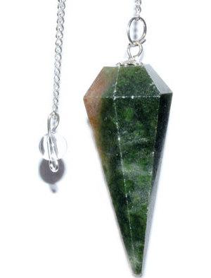 6-sided Dark Green Agate pendulum