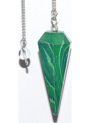 6-sided Malachite pendulum