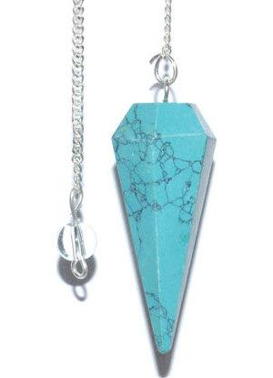 6-sided Turquoise pendulum