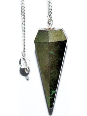 6-sided Pyrite pendulum