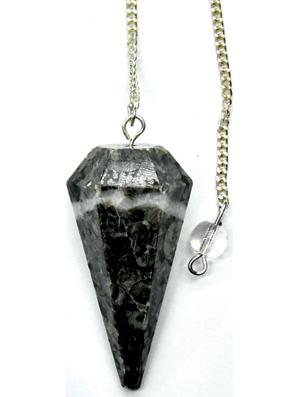 6-sided Black Coral pendulum