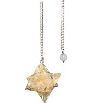 Merkaba Citrine Orgone pendulum