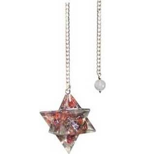 Merkaba Garnet Orgone pendulum