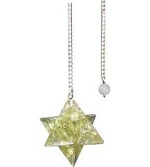 Merkaba Peridot Orgone pendulum