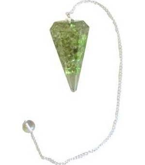 Peridot Orgone pendulum