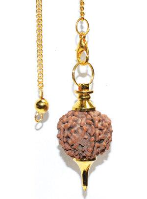 Gold Rudraksha pendulum
