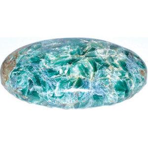 Kyanite palm stone