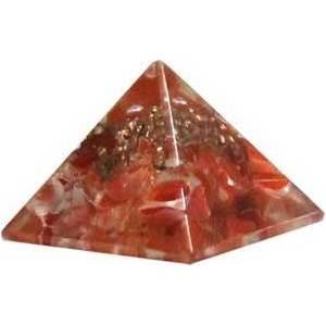 25-30mm Orgone Carnelian pyramid