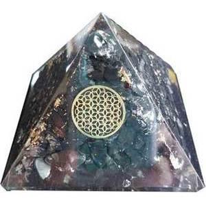 70mm Orgone Shungite & Flower pyramid