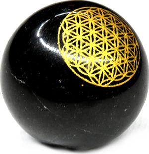 50mm Tourmaline flower of life sphere