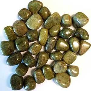 1 lb Epidote tumbled stones