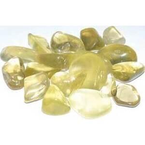 1 lb Quartz, Lemon tumbled stones