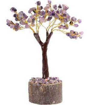 Amethyst Gemstone Tree 100 Beads