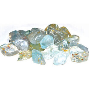 1 lb Topaz, Blue tumbled stones