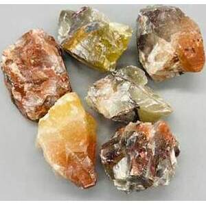 1 lb Red/ Brown Calcite untumbled stones