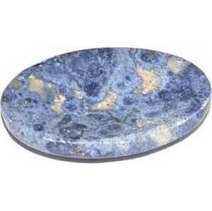 Dumoritierite worry stone