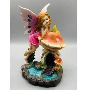 """6 3/4"""" Fairy back flow incense burner"""