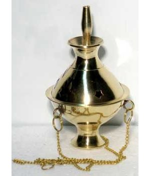 "Brass Hanging Incense Burner 5""-6"""