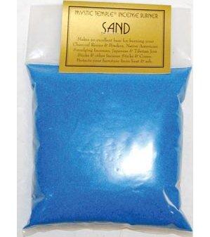 1lb Blue incense burner sand