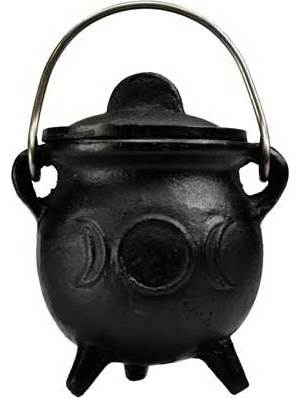 "3"" Triple Moon Cauldron with Lid"