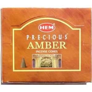 Amber Hem Cone Incense 10pk