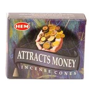Attracts Money Hem Cone Incense 10pk