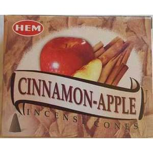 Cinnamon -Apple HEM Cone Incense 10pk