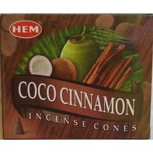 Coconut Cinnamon HEM Cone Incense 10pk