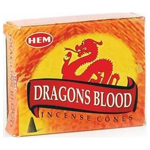 Dragon's Blood Hem Cone Incense 10pk